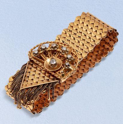 Bracelet ceinture en or jaune 18K (750) en...