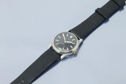 ROLEX  Réf. 2690  No. 027755  Montre bracelet en acier. Boîtier fond fermeture à...