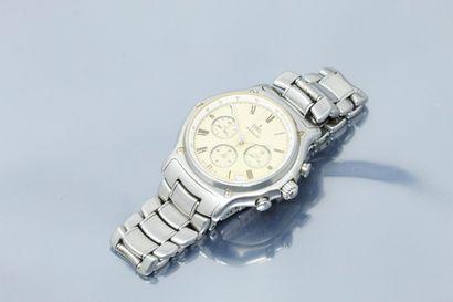 EBEL  Montre bracelet en acier avec chronographe....