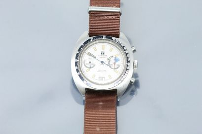 TISSOT  Seastar Navigator  Montre bracelet en acier avec chronographe. Boîtier fond...