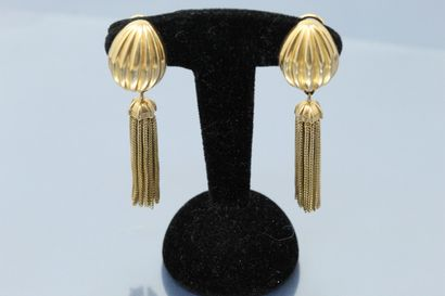 Paire de pendants d'oreilles articulés en...