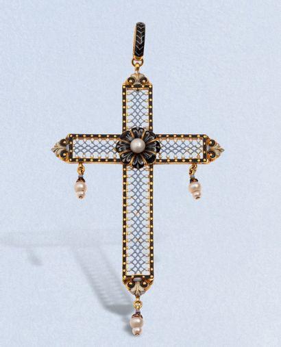 Pendentif croix d'inspiration Renaissance...