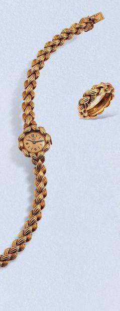 VAN CLEEF & ARPELS (Commande Spéciale)  Ensemble comprenant une montre bracelet...