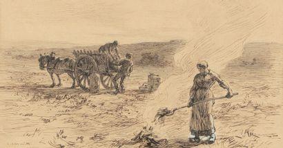 LHERMITTE Léon, 1844-1925  La récolte des...