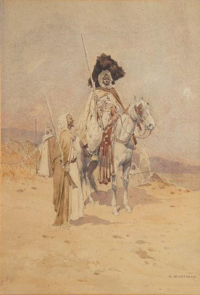 MONTBARD Charles, 1841-1905  Cavaliers orientaux...