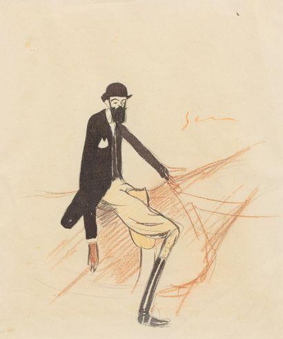 SEM, 1863-1934  Maître Habasque de profil...