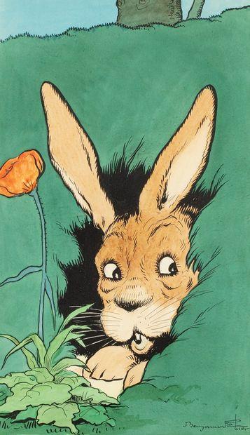 RABIER Benjamin, 1869-1939  La chasse est...