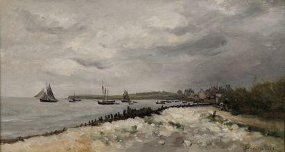 TROUILLEBERT Paul Désiré, 1829-1900  Bateaux...