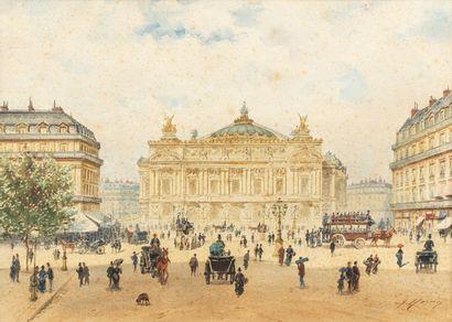 HOMO Alexandre, 1840-1889  La place de l'Opéra,...