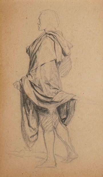MEISSONIER Ernest, 1815-1891  Étude d'homme...