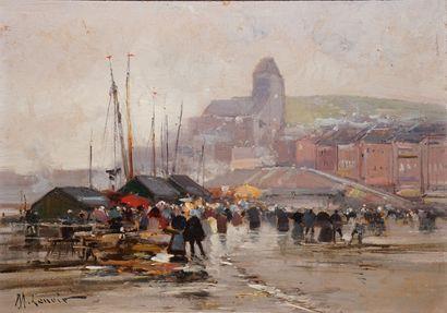 GALIEN-LALOUE Eugène, 1854-1941  La criée...