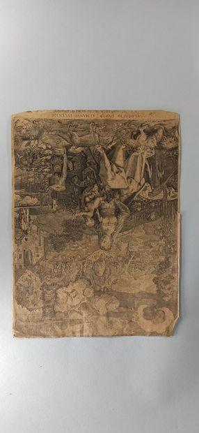 Jean Jacques de BOISSIEU (1736 - 1810) et autres artistes  Promeneurs.  Eau-forte...
