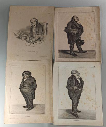 CARICATURES  Caricatures historiques et politiques, par ou d'après Daumier, Grandville,...