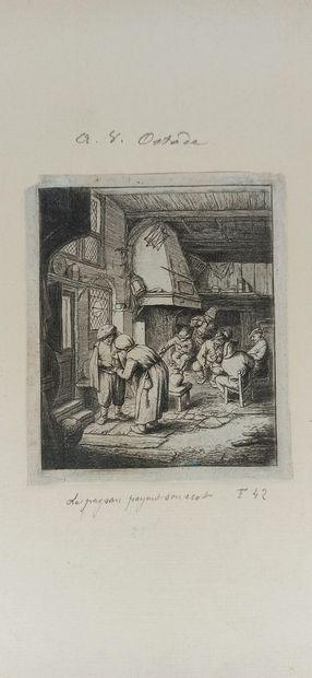 Adrien VAN OSTADE (1610 - 1685)  Joueurs...