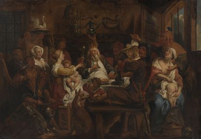 JORDAENS Jacob (Ecole de)  Anvers 1593 -...