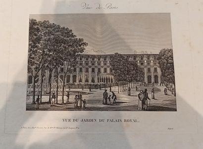 VUES  Réunion de Vues de Paris, Louvre, jardin...