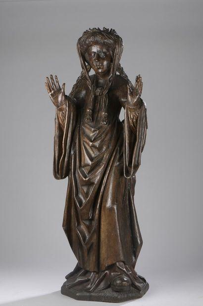 Sainte Elisabeth de Hongrie (?) en chêne...