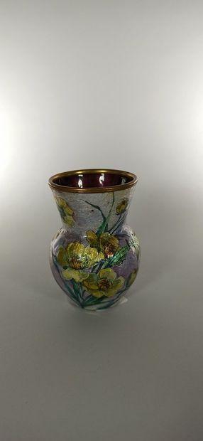 Jules SARLANDIE (1874-1966) - LIMOGES  Vase...