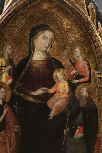 BICCI DI LORENZO (Attribué à) Florence 1373 – id. ; 1452 La Vierge à l'Enfant sur...
