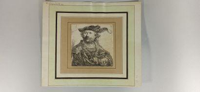 REMBRANDT VAN RIJN (1606 - 1669)  Autoportrait...