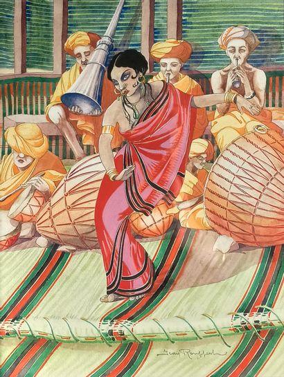 Jean ROUPPERT (1887-1979)  Danseuse d'Inde...