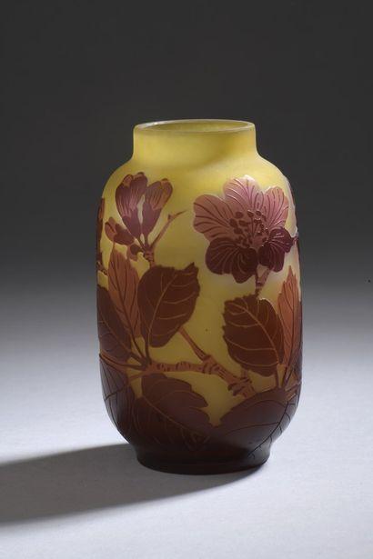 ETABLISSEMENTS GALLE (1904-1936)  Vase tubulaire...