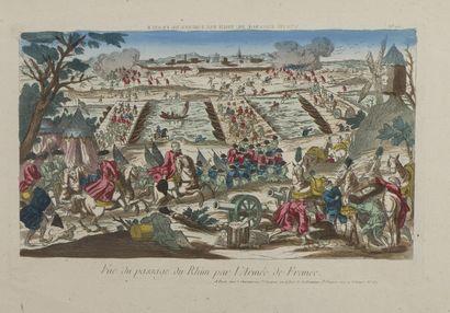 IMAGERIES  Vue du passage du Rhin par l'armée Française - Trait de grandeur d'âme...