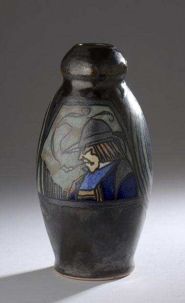 Paul FOUILLEN (1899-1958)- QUIMPER  Vase...