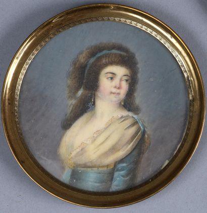 DUMONT François (Ecole de)  1751 - 1831  Portrait...
