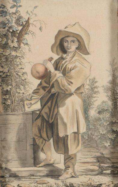 ECOLE FRANCAISE  Fin du XVIIIe siècle  Jeune...