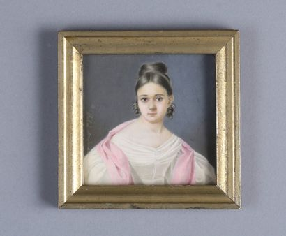 BRUDER Salomé  Active au XIXe siècle  Portrait...