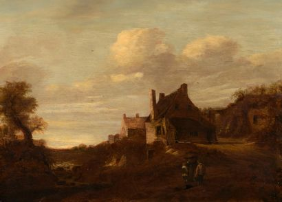 ECOLE HOLLANDAISE du XVIIe siècle  Maisons...