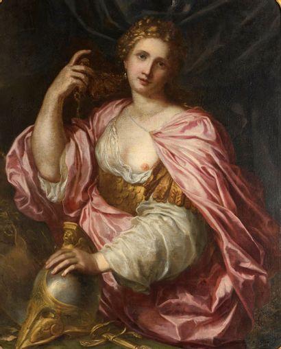 ECOLE VENITIENNE du XVIIe siècle  Minerve...