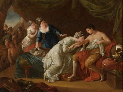 ECOLE ITALIENNE  Fin du XVIIIe siècle  Scène...