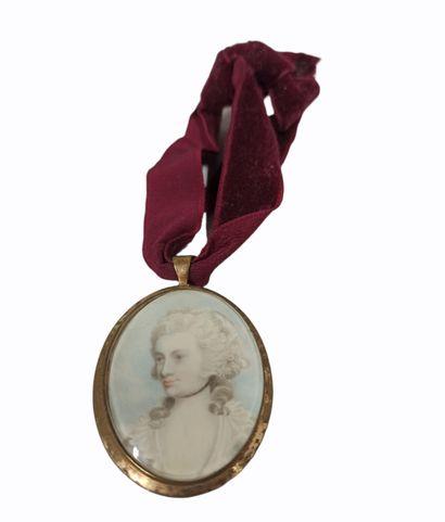 ECOLE ANGLAISE du XIXe siècle  Miniature...