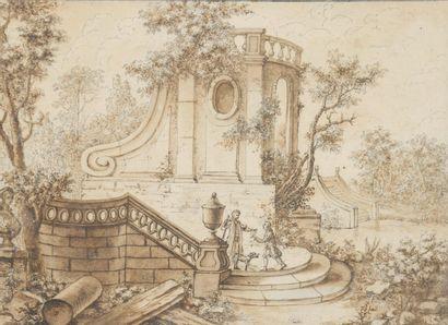 LAJOUE Jacques de (Ecole de)  1686 - 1761...