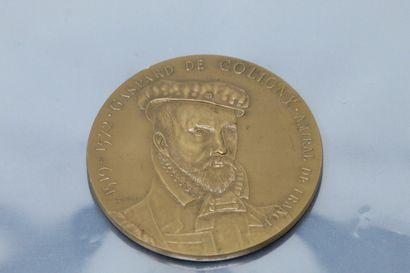 Médaille en bronze  Avers : buste de Gaspard...