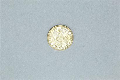 Pièce en or de 20 mark - Otto (1895 D)  TTB.  Poids : 7.95 g.