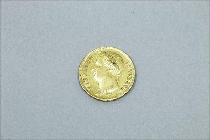 Pièce en or de 40 francs Napoelon (1811 A)....