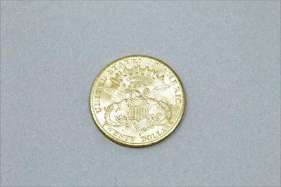 """Pièce en or de 20 dollars """"Liberty Head - Double Eagle"""" (1903 S)  Poids : 33.43..."""