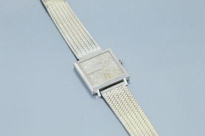 Montre bracelet d'homme, boîtier carré en...