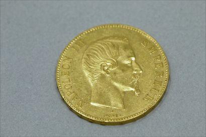 Pièce en or de 100 francs Napoléon III tête...
