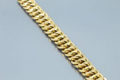 18k (750) yellow gold bracelet.  Weight : 33,10 g. - Length : 19.5 cm.  BA44456