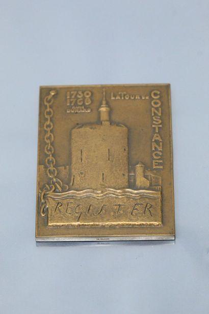 [ Protestantisme ] Médaille en bronze  Avers...