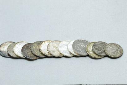 Lot de pièces argent.  Poids : 176.95 g.