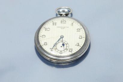 LIP  Chronomètre LIP en argent, cadran à...