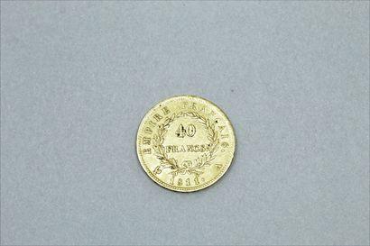 Pièce en or de 40 francs Napoelon (1811 A).  TB.  Poids : 12.7 g.