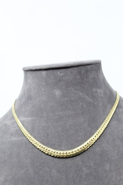 Collier en or jaune 18k (750) à maille anglaise...