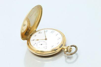 Montre savonnette en or jaune 18k (750),...