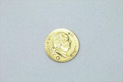 Pièce en or de 40 francs Louis XVIII (1818)....